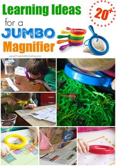 Children are naturally curious about the effect of a magnifying glass. Use jumbo magnifying glasses as seen in these activities and your kids will love learning! Print our these I spy alphabet find, alphabet detective and miniature letter find activities and work on letter recognition in a fun way! Or, use a newspaper to find certain letters, numbers or even symbols! Hunt …