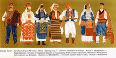 Croatia Pictures, Folk Costume, Costumes, Ethnic Dress, Bosnia And Herzegovina, Regional, Europe, Culture, Traditional