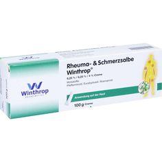RHEUMA UND SCHMERZSALBE Winthrop:   Packungsinhalt: 100 g Creme PZN: 04953257 Hersteller: Zentiva Pharma GmbH Preis: 5,69 EUR inkl. 19 %…