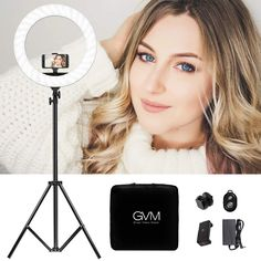 Emart 18 Bi-Color LED Ring Light Kit with iPad /& Phone Holder for YouTube Include Mirror 55W Dimmable Continuous Circle Lighting Kit USB Charging Interface and Light Stand Portrait Selfie