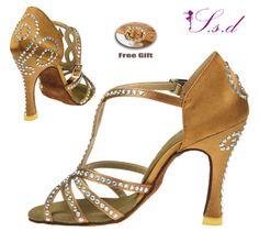7 Colors Luxury Full Rhinestones Women's Salsa Latin Ballroom Dance Shoes 283F   eBay