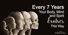 It's not a myth but rather a scientifically proven fact that our bodies and minds change every 7 years. Every 7 Years Your Body, Mind and Spirit Evolves This Way