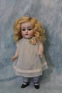 "HUGE 10.5"" Antique ALL-BISQUE Kestner Doll #150/6 ca1890 Sleep Eyes Molded Socks  700"