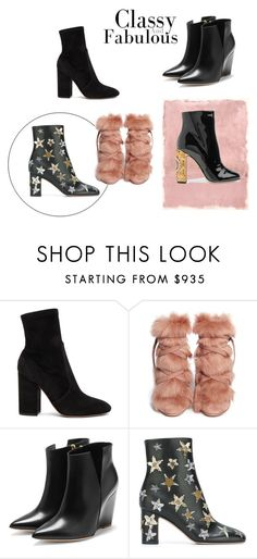 """""""boots"""" by fanny-sandberg on Polyvore featuring Valentino, Rothko, Gianvito Rossi, Rupert Sanderson and Dolce&Gabbana"""