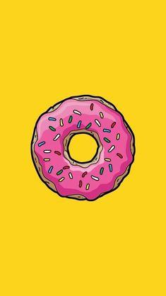 Pop Art Wallpaper, Wallpaper Panels, Trendy Wallpaper, Simpsons Donut, The Simpsons, Simpsons Party, Donuts Tumblr, Santa Paintings, Wallpapers En Hd