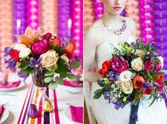 bright & colourful floral arrangements by @Liz Mester inigo jones