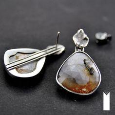 SZAFIROWA IMPRESJA | Monika Kraczek  Unique earrings with sapphires. Buy: www.monikakraczek.com