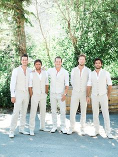 Neutral Colored Groomsman Vests and Suede Shoes | Troy Grover Photography https://www.theknot.com/marketplace/troy-grover-photographers-newport-beach-ca-335623 | Theory | Nordstrom | Smart Range Leather