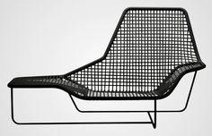 Chaise longue contemporaine / en PVC / en acier / d'extérieur - LAMA by Ludovica & Roberto Palomba - Zanotta Plus