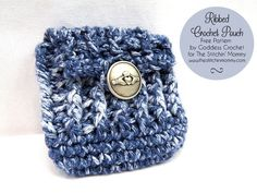 Ribbed Crochet Pouch - Free Pattern