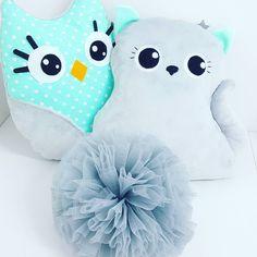 """Polubienia: 78, komentarze: 9 – Made.By.Syl (@made.by.syl) na Instagramie: """"Kotek i sówka dla wspaniałej rodzinki 😍 #handmade #sewing #sewingforkids #babyroom #babydecor…"""""""