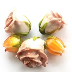 #rose #lampwork #glass #glassbeads #flower #lampwork #my365beads2016 #petrovnalampwork #flowerbeads