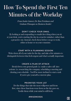 How To Spend the First Ten Minutes of the Workday (Ivanka Trump) - Business Management - Ideas of Business Management - The post How To Spend the First Ten Minutes of the Workday appeared first on Ivanka Trump. Leadership Development, Professional Development, Leadership Activities, Leadership Traits, Leadership Skill, Educational Leadership, Professional Resume, Leadership Quotes, Personal Development