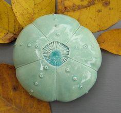 Turquoise Ceramic Sea Urchin