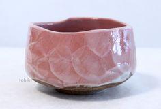 Photo3: Mino yaki ware Japanese tea bowl Sakura kobiki chawan Matcha Green Tea