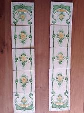 Antique Fireplace Tiles  Art Nouveau Originals