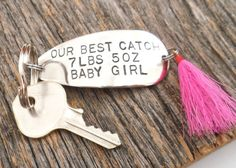 New Parents Gift for Daddy Keychain for Men by CandTCustomLures