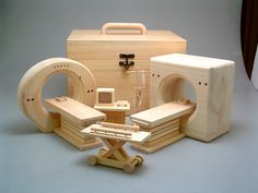 incredible. wooden toys designed to ease children's fear about going into hospital.