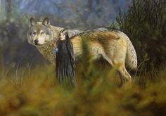 Luthien and Huan by Canis-Lupess on deviantART