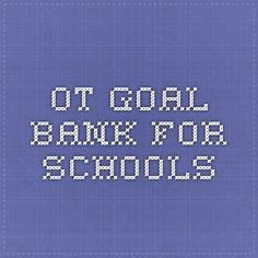 Ot goal bank so helpful pediatric ot and art for kids ot goal bank for schools fandeluxe Image collections