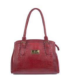 Bolsa tradicional em couro Andrea Vinci vermelha - Enluaze Loja Virtual | Bolsas, mochilas e pastas