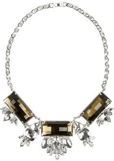 Silverplated Crystal Necklace - Lyst
