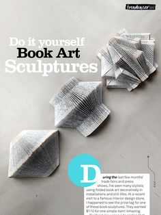 Trendenser.se - book art sculptures