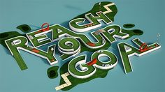 Creative 3D Typography by Benoit Challand