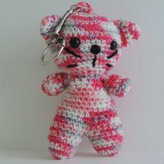 Porte clés chat crochet amigurumi kawaii