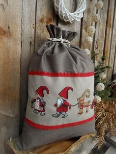 Personalized Santa Sack Personalized Christmas by ViViCreative