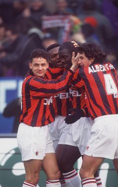 Roberto Baggio, Marcel Desailly, George Weah & Demetrio Albertini (AC Milan)