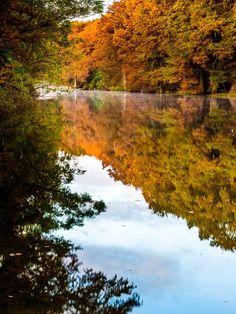 Guadalupe River in autumn