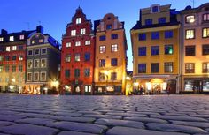 Over the bridge, across the cobblestones, and into this historic part of Stockholm