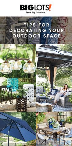 Whether you use your outdoor space for relaxing, dining, or entertaining, we have some tips on how you can create a great look that fits your style. Outdoor Areas, Outdoor Life, Outdoor Living, Outdoor Decor, Outdoor Stuff, Backyard Retreat, Backyard Patio, Backyard Projects, Outdoor Projects