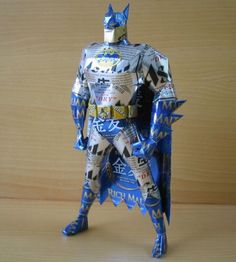 Reduce, Reuse, Upcycle: Aluminum Cans made into pop culture heros