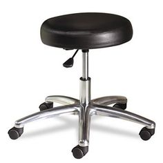 Hon Medical Exam Stool without Back, 24-1/4 by 27-1/4 by 17-1/4-22-Inch, Black