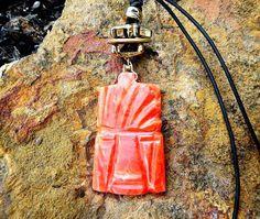 Mayan warrior necklace Aztec jewelry Mens by ZingRetrofitJewelry