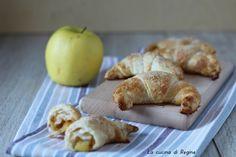 Croissant di sfoglia alle mele e marmellata
