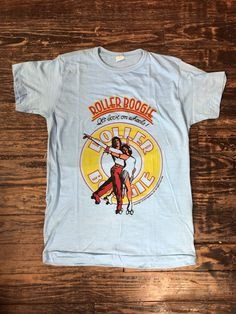 f725998fb4c Vintage NOS Roller Boogie promotional movie t-shirt. Movie ShirtsVintage ...