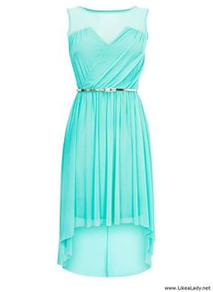 Mint high low dress ! Loving the color ♥
