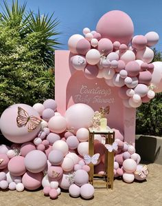 Deco Baby Shower, Baby Girl Shower Themes, Girl Baby Shower Decorations, Baby Shower Balloons, Baby Shower Gender Reveal, Baby Shower Parties, Baby Party, Gender Reveal Decorations, Baby Showers