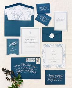 Image result for blue wedding invitation suites