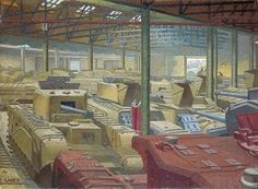 Royal Ordnance Stores - Charles Ginner - The Athenaeum