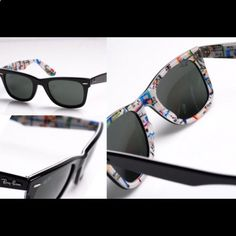 9d7582da80 Ray Ban Wayfarer Sunglasses Limited edition New York Subway map printed  wayfarers. These are so