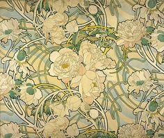 Alphonse Mucha retro pattern #Vintage#design#Ornement Retro ornament #Vintage#design#Ornement retro, vintage, old-fashioned, frumpy,