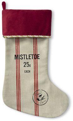 Wayfair Mistletoe Christmas Stocking #FarmhouseChristmas