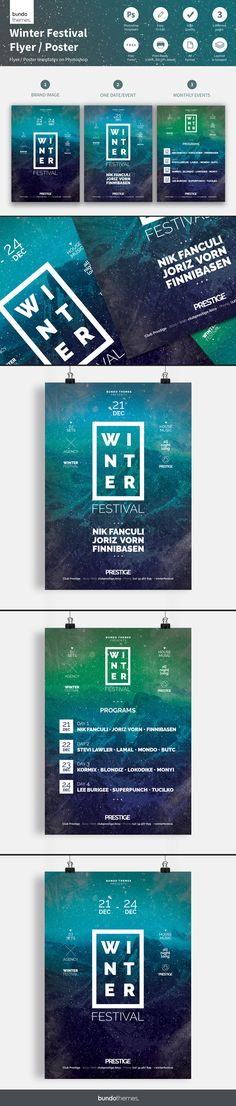 Sweet Flyer   Poster Template Club parties, Template and Design - winter flyer template