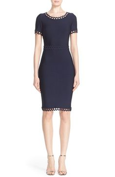 Herve Leger Openwork Diamond Trim Bandage Dress available at #Nordstrom