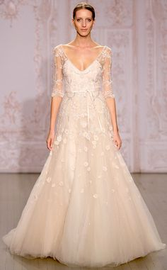 Monique Lhuillier from Best Looks From Fall 2015 Bridal Collections