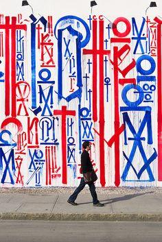 "Street art ""Status of my brain"" (circa Monday morning) by Retna Typography Inspiration, Design Inspiration, New York Street, Outdoor Art, Street Signs, Street Art Graffiti, Street Artists, Types Of Art, Public Art"